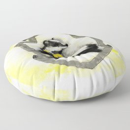 Hufflepuff Splatter Floor Pillow