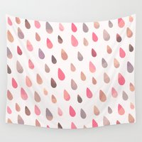 liam payne Wall Tapestries featuring OPAL DROPS - DAWN COLORWAY by Daisy Beatrice