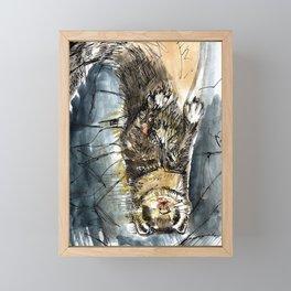 She is a ferret Framed Mini Art Print