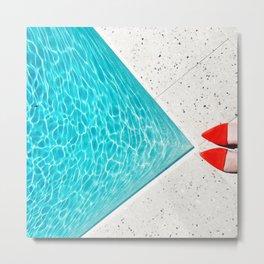 Pool Shoes Metal Print