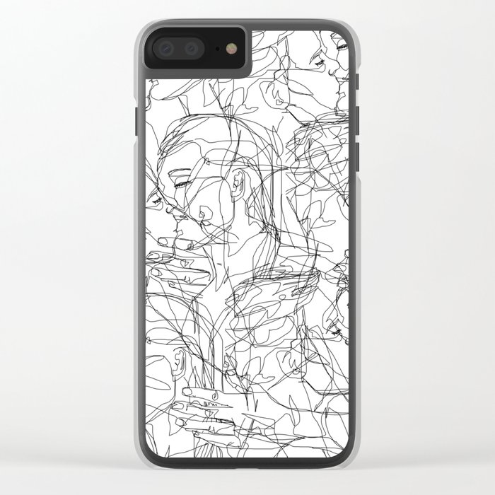 Love on Repeat Clear iPhone Case