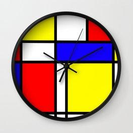 Mondrian 4 #art #mondrian #artprint Wall Clock