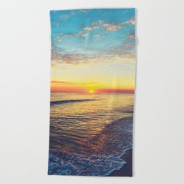 Summer Sunset Ocean Beach - Nature Photography Beach Towel