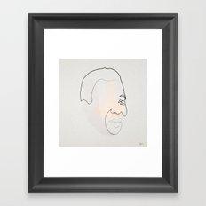 Half a Pelé Framed Art Print