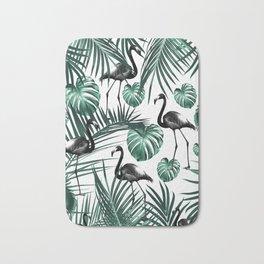 Tropical Flamingo Pattern #6 #tropical #decor #art #society6 Bath Mat
