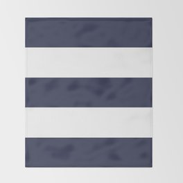 NAVY & WHITE STRIPE Throw Blanket