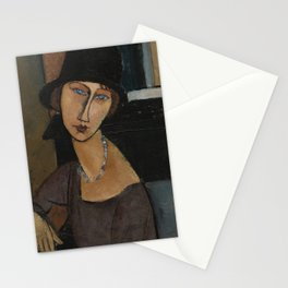 Modigliani - Jeanne Hebuterne With Hat And Necklace Stationery Cards