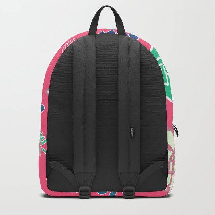 Floral ornament in pink Backpack