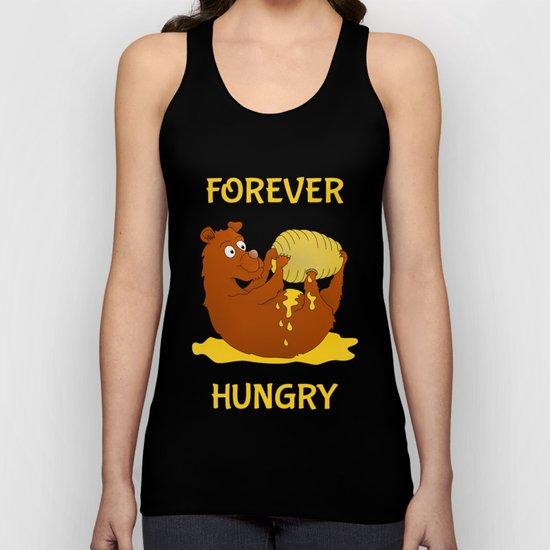 Hungry Bear Eating Honey Unisex Tank Top