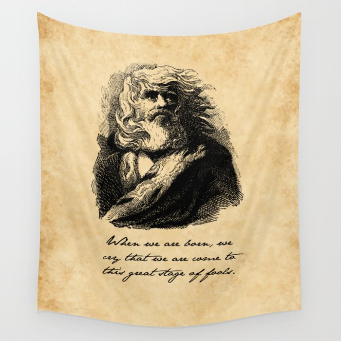 King Lear - William Shakespeare Wall Tapestry by fivepennystudio ...