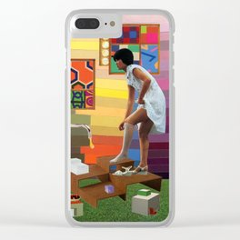 Slippery Clear iPhone Case