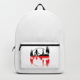 Stay Strange black and red Backpack