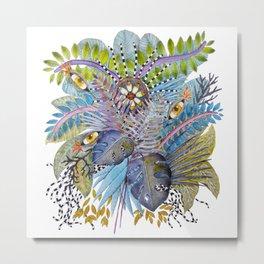 Eye-Flowers hidden in the jungle Metal Print
