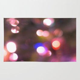 Colored Lights, Bokeh, White, Blue, Pink, Rug