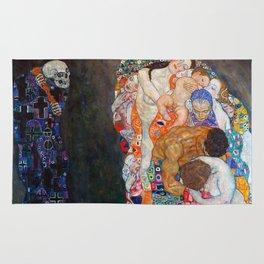 Death and Life by Gustav Klimt Rug