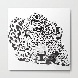 Colorblind Leopard Metal Print