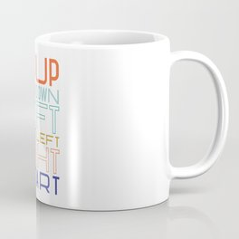 Up Up Down Down Left Right Left Right B A Start Coffee Mug