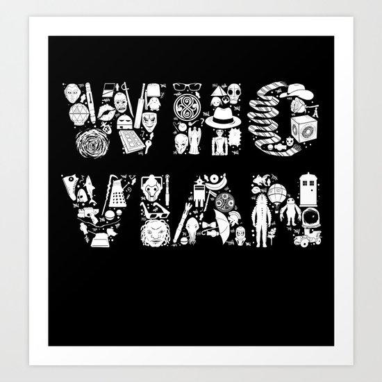 WHOVIAN Art Print