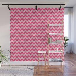 Pink Chevron Pattern Wall Mural