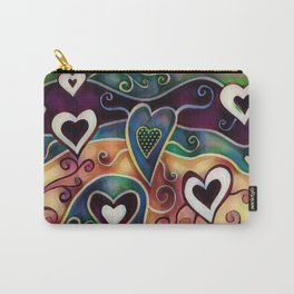 Funky Hearts Carry-All Pouch