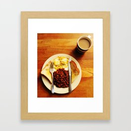 Beans and Eggs Framed Art Print