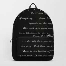From the Place You Were Born (BLK) Backpack
