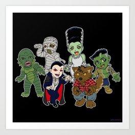 Universal Monsters Art Print