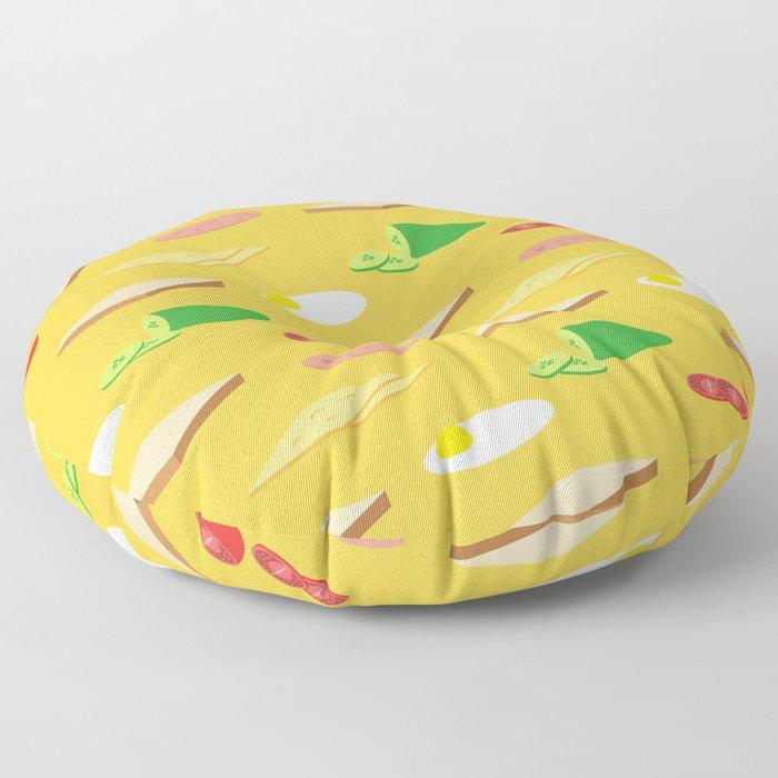 Breakfast Pattern Floor Pillow