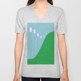 Abstract Landscape - Lights on the Hill Unisex V-Neck