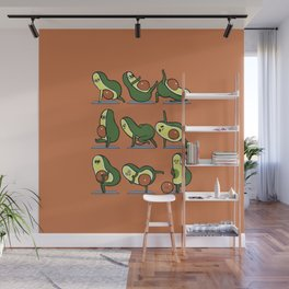 Avocado Yoga For A Flat Tummy Wall Mural