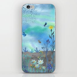 Blue Garden I iPhone Skin