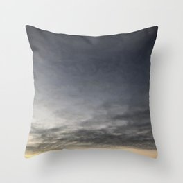 Black Clouds and Sky Throw Pillow