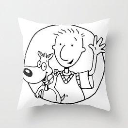 Doug and Dog Throw Pillow