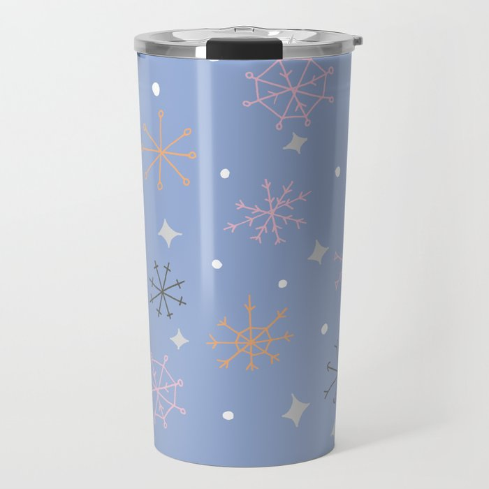 Candy snowflakes Travel Mug by craftwithcartwright