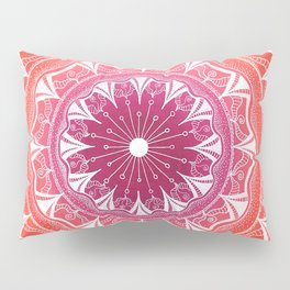 Pink & Orange Flower Mandala Pillow Sham