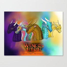 Wings Of Fire Dragons Canvas Print