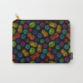 Mitosis - Color on Black Carry-All Pouch
