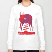 vegetable Long Sleeve T-shirts featuring Vegetable Lamb of Tartary by camilla falsini