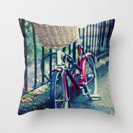 City bike Throw Pillow