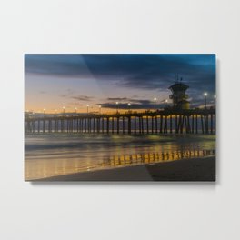 Huntington Lights Metal Print