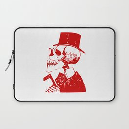 Skeleton in a Top Hat Laptop Sleeve