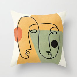 Abstract Faces 19 Throw Pillow