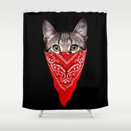Gangster Cat Shower Curtain