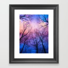 A New Day Will Dawn  (Day Tree Silhouettes) Framed Art Print