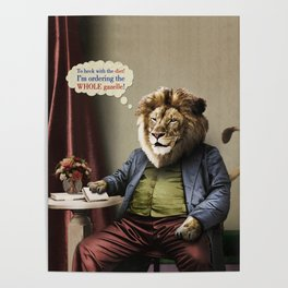 Hungry Lion Poster