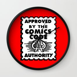 Approved by the Comics Code Wall Clock