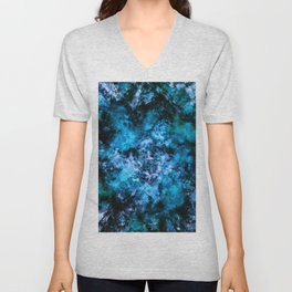Blue burst Unisex V-Neck