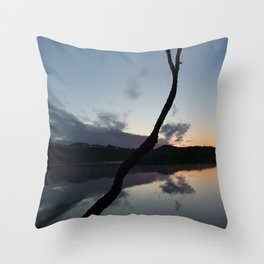 Sunset on lake, Nature Photography, Landscape Photos, sunset photos Throw Pillow