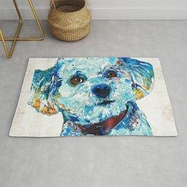 Small Dog Art - Who Me - Sharon Cummings Rug