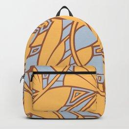 Modern art nouveau tessellations gamboge azure Backpack